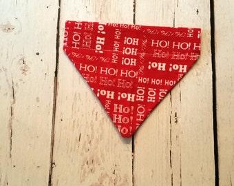 Dog Bandana,  Pet Scarf- Red Christmas