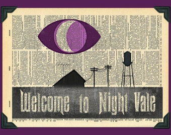 Buy Any 2 Prints get 1 Free Welcome To Night Vale Vintage Dictionary Art