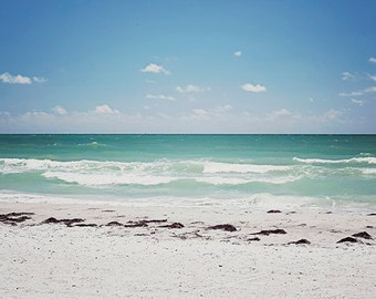 Beach Photography, Florida Ocean Art,  Beach Photo, Fine Art Landscape Photograph, Beach House, Modern Coastal Wall Art, Turquoise, Aqua