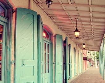 "New Orleans French Quarter Photograph. ""Throw Open the Shutters"" Louisiana Photography. Mardi Gras.  Fine Art Print. Home Decor. Mulattes."