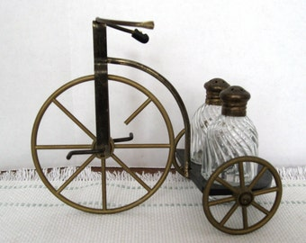 Vintage Tricycle Salt and Pepper Shaker Set