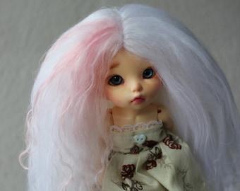 Strawberry Milkshake mohair wig for Pukifee / Lati Yellow / other small doll