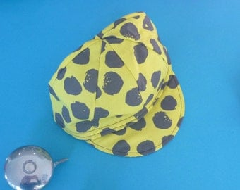 Toddler/Kid Cycling Cap- Yellow Polka dot