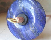 Lapis Stone Drop Spindle 1.09 ounces 30 grams Poplar Shaft