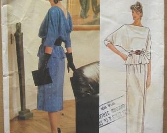 Vintage Vogue Pattern - Top and Skirt - Vogue Designer Original Bellville Sassoon 1402 - Size 16 - Maxi Skirt and Top