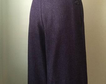 1930's 30's wide leg denim pants W 26-27 H 36