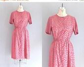 45% OFF SALE.... vintage 1970s dress • tulip print dress • day 70s dress • small medium