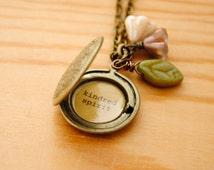 Anne of Green Gables Women's Locket - Kindred Spirit in Antique Brass