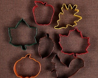 Fall Cookie Cutter Set, Thanksgiving Cookie Cutters, Autumn Cookie Cutters, Squirrel Cookie Cutters, Leaf Cookie Cutters, Pumpkin Cutter