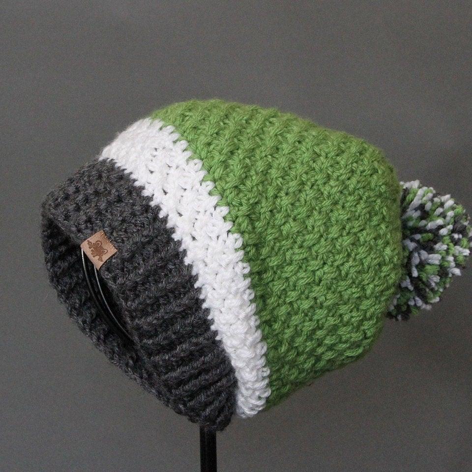 Crochet Slouch Hat: Crochet PATTERN Brighton Slouchy Crochet Slouchy Hat Pattern