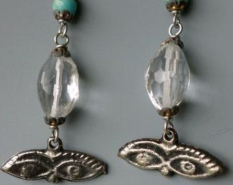 Eye Milagros Crystal Earrings
