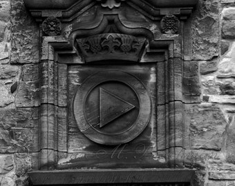 Rustic Scottish Photos - Edinburgh Castle Stonework - Choose Black and White or Color - Edinburgh Scotland Architectural Details -