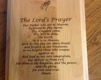 "Maple The Lord's Prayer Plaque 7"" x 9"""