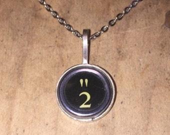 """Black """" & 2 Typewriter Key Pendant"""