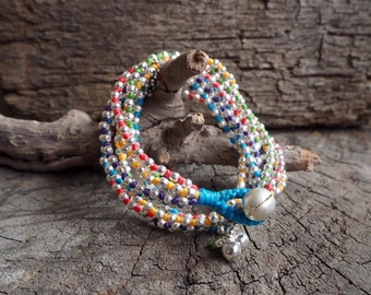 Candy Silver Double Wrap Bracelet, Necklace