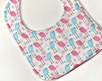Cute Baby Girl Bib, Baby Easter Bib, Baby Shower Gift, Infant Drool Bib, Baby Items