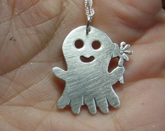 Little ghost charm necklace