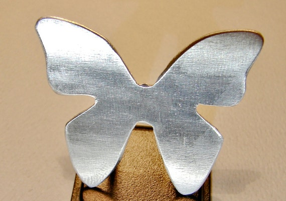 Butterfly Aluminum Guitar Pick - Custom Cut with Artisan Style - GP999