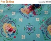 Gorgeous Frozens Sisters  Blue or Pink--Buyers ChoiceFriends Fabric--from Movie FROZEN weekend SALE--LAST Piece