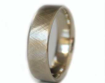 Unique Wedding Band Men, Wedding Ring, Engagement Ring Men, White Gold Mens Ring, Mens Wedding Ring