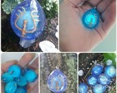 SALE Glow In The Dark Cosplay Stone Crystal Necklace, See Description