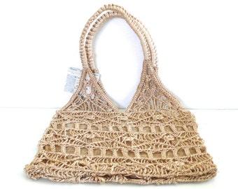 Vintage Crocheted Tote Bag