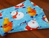 Christmas Flannel Burp cloth changing pad, Set of 2