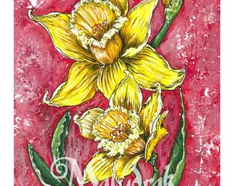 Yellow Daffodils - Art Print