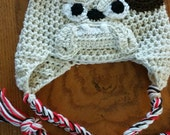 CUSTOMER ORDER - for Carey Adult Bull Dog hand Crochet Hat