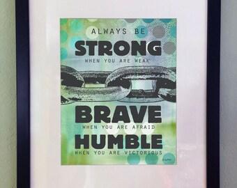 Boys Kids Teen Inspirational Art Print, Printable Digital Art, Typography Quote, Wall Decor, Instant Download