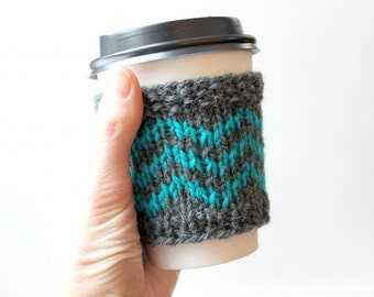 Knit Coffee Cozy, Wool Cup Sleeve, Cup Cozy Gift, Coffee Gift, Wool Coffee Sleeve, Reusable Cup Cozy, Coffee Lover Gift, Mothers Day