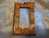Hand Painted Rolling Toggle GFI Light Switch Plate/Outlet Cover, Rusty