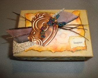 INSPIRE GIFT BOX - Handcrafted Small Gift Box, Jewelry Presentation Gift Box