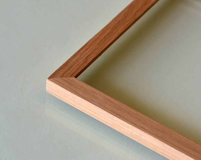 BASIC Picture Frame - Natural OAK Solid Hardwood Peewee Style Gallery Wall Frames - Choose Large Size: 10x10, 9x12, 12x12 up to 11x14""