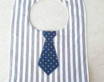 little man tie bib