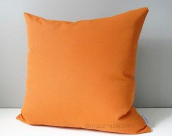 Orange OUTDOOR Pillow Cover, Modern Orange Pillow Cover, Decorative Throw Pillow Case, Pumpkin, Tuscan Sunbrella Cushion Cover, Mazizmuse