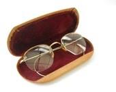 Vintage Wire Rim Glasses • Antique 12k Gold Filled Wire Frame Glasses