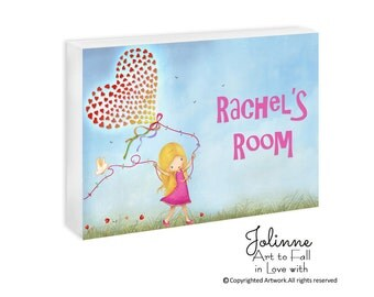 kids artwork display door hanger, personalized sign newborn baby shower gift , Baby Girl Name Sign Nursery, Kids Room Wall Sign, Custom Name