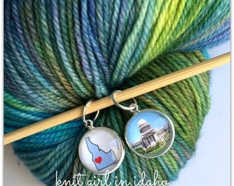IDAHO State Stitch Markers (Set of 2)
