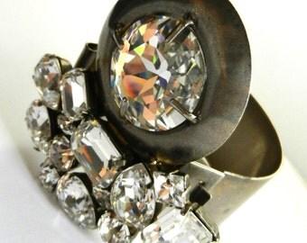 Authentic  MIU MIU Prada Bangle Bracelet - Rare bangle very chic and glamorous with large cristals  -art.494/4 -
