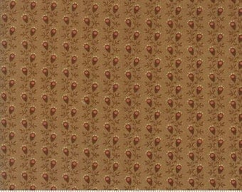 Gratitude Light Brown Floral Stripe 38006 16 Jo Morton Moda Floral Fabric