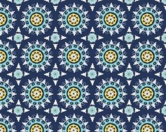 Lulabelle fabric Medallion Navy Fabric  C5061-NAVY Riley Blake Designs