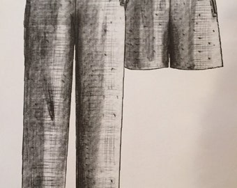 Great Copy Patterns - # 680 - Designer Pants and Shorts - Straight Leg -  Size Ex-Small, Small, Med, Large, Ex-Large - Uncut Pattern