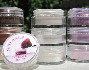 Fun Set Eye Makeup Gift Set /Loose pigments/EcoFriendly/cruelty-free/Vegan Mineral Eye Shadows/Gift Makeup Set of nine