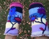 Harry and The Hippe Chic Recycled Hand Embroidered Fingerless Gloves