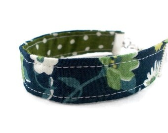 Blue & Green Fabric Bracelet, Jewelry for Tween Girls, Tween Girl Gifts, Stocking Stuffers for Teenage Girls, Tween Jewelry, Cute Bracelets