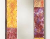 ON SALE! 31 x 13 Painted Metal Border Mirror