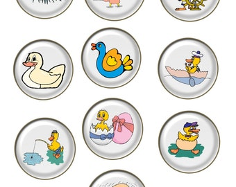 10-Ducks Brad Glass A2-Digital Immediate Download-ClipArt-Art Clip