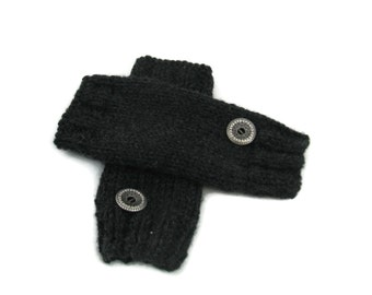 Knit Fingerless Gloves, Texting Gloves, Knit Gloves, Fashion Accessory, Hand Warmers, Charcoal Gloves, Gray Gloves, Gift Ideas For Her,