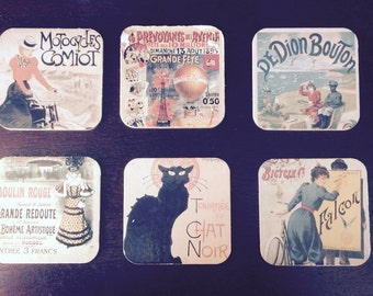 Vintage French Belle Epoque Coasters (6)